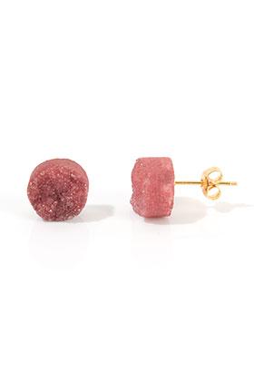www.misstella.es - Pendientes de piedras naturales Crystal 18x10mm