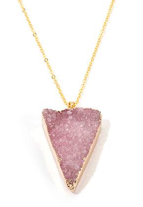 Natural stone pendant