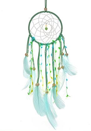 www.misstella.fr - Pendentif capteur de rêves avec plumes 47x11cm