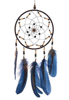 www.misstella.com - Pendant dreamcatcher with feathers 51x16cm