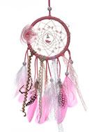 www.misstella.fr - Pendentif capteur de rêves avec plumes et lumières LED 38x10cm - J07832