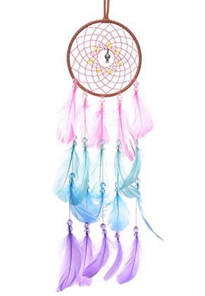 www.misstella.fr - Pendentif capteur de rêves avec plumes 61x13cm