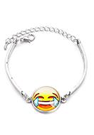www.misstella.nl - Armband met emoji 18-21cm - J07946