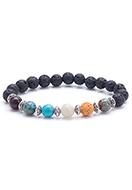 www.misstella.com - Natural stone bracelet lava rock/Pelelith 18cm - J07959