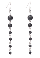 www.misstella.com - Natural stone earrings lava rock/Pelelith - J07962