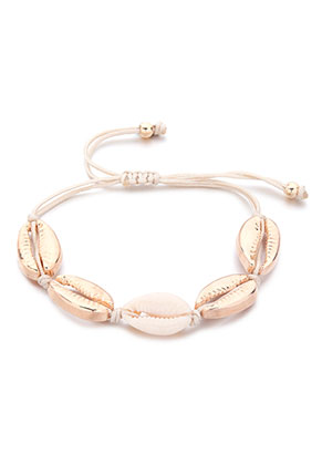 www.misstella.com - Bracelet with wax cord and shells 14-30cm