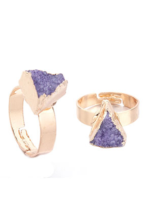 www.misstella.com - Ring with natural stone Crystal triangle >= Ø 18,5mm