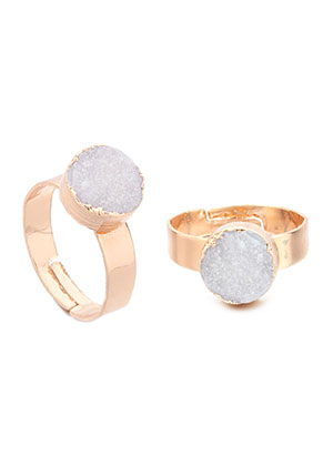 www.misstella.com - Ring with natural stone Crystal round >= Ø 18mm