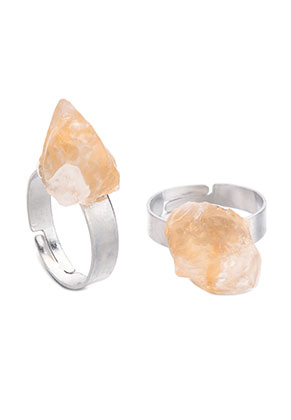 www.misstella.de - Ring mit Naturstein Citrine >= Ø 18,5mm