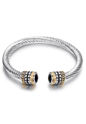 www.misstella.fr - Bracelet cuff en acier inoxydable 19cm