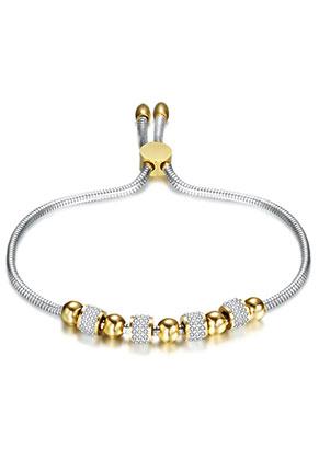 www.misstella.fr - Bracelet en acier inoxydable avec perles 19-25cm