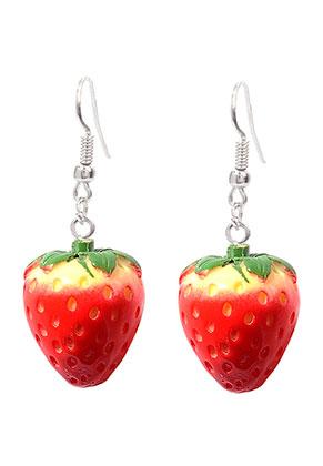 www.misstella.fr - Boucles d'oreilles fraises 45x20mm
