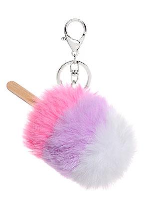 www.misstella.fr - Porte-clés avec boule de peluche glace