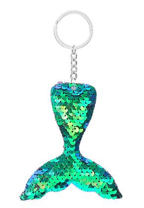 www.misstella.fr - Porte-clés avec paillettes réversibles queue de sirène