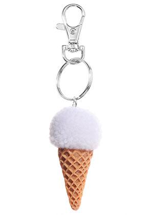 www.misstella.fr - Porte-clés avec pompon glace