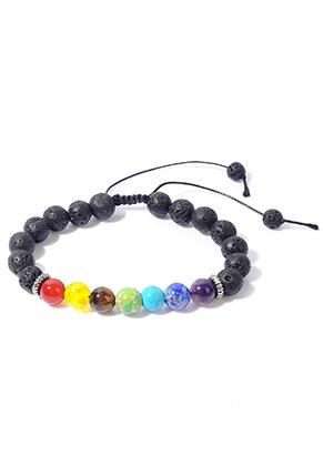 www.misstella.fr - Bracelet en pierre naturelle Rainbow Chakra 18-30cm