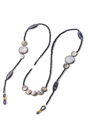 www.misstella.fr - Chaîne á lunettes avec perles en nacre 75cm