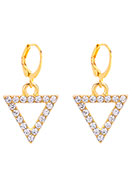 www.misstella.com - Earrings with triangle 29x14mm - J08324