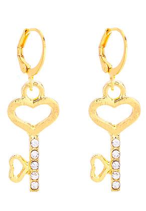 www.misstella.fr - Boucles d'oreille créoles avec clé 36x13mm