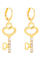www.misstella.com - Earrings with key 36x13mm - J08325