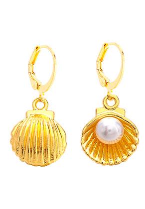 www.misstella.com - Earrings with shell 29x13mm