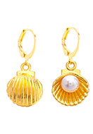 www.misstella.com - Earrings with shell 29x13mm - J08326
