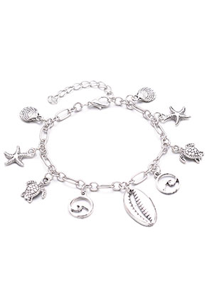 www.misstella.com - Bracelet/anklet with charms 19-24cm