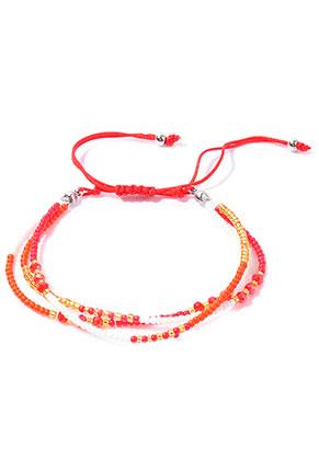 www.misstella.com - Ibiza Style bracelet with glass beads 17-29cm
