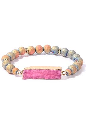 www.misstella.com - Bracelet with natural stone Crystal 20cm