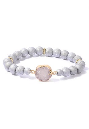 www.misstella.com - Bracelet with natural stone Crystal 18cm