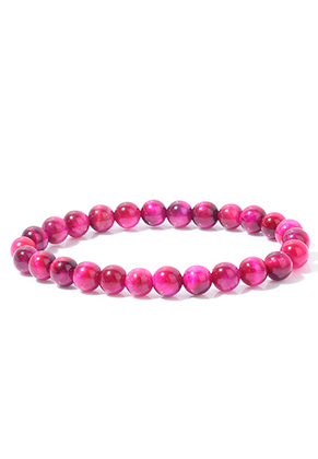 www.misstella.com - Natural stone bracelet Tiger Eye, stretchable 20cm