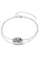 www.misstella.fr - Bracelet/bracelet de cheville avec éléphant 23-29cm - J08606