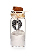www.misstella.com - Glass wish bottle with necklace wings 54x22mm - J08639