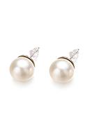 www.misstella.fr - Clous d'oreille en métal avec perle synthétique 24x12mm - J08733
