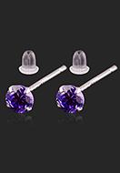 www.misstella.nl - 925 Zilveren oorstekers met zirkonia rond 13,5x4mm - J08842