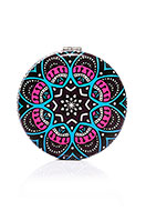 www.misstella.com - Synthetic pocket-mirror round mandala print 7x1,5cm - J08847