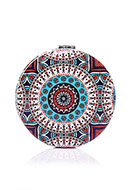 www.misstella.com - Synthetic pocket-mirror round mandala print 7x1,5cm - J08850