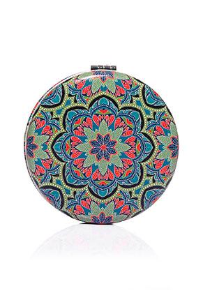 www.misstella.com - Synthetic pocket-mirror round mandala print 7x1,5cm