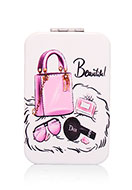 www.misstella.com - Synthetic pocket-mirror rectangle fashion print 9x6x1cm - J08867