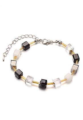 www.misstella.com - Bracelet with glass beads 19-24cm
