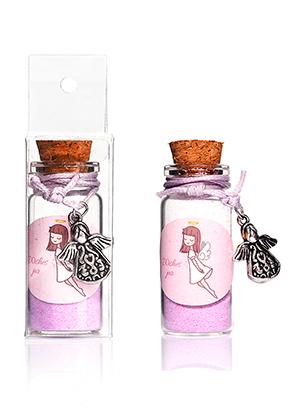 www.misstella.com - Glass wish bottle with bracelet angel 54x22mm