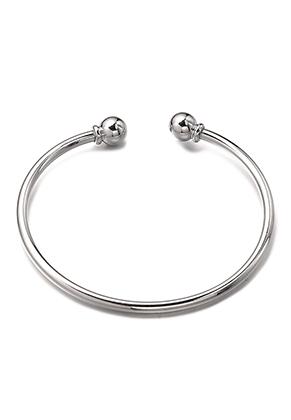 www.misstella.fr - Bracelet cuff en brass avec fermoir boule amovible 18cm