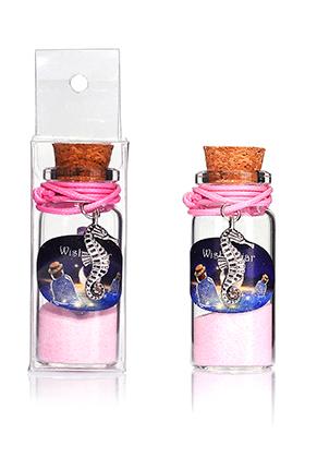 www.misstella.com - Glass wish bottle with bracelet seahorse 54x22mm