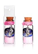 www.misstella.fr - Bouteille de souhait (Wish bottle) en verre avec bracelet hippocampe 54x22mm - J08977