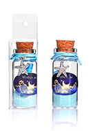www.misstella.es - Botella de deseo (Wish bottle) de vidrio con pulsera estrella de mar 54x22mm - J08988