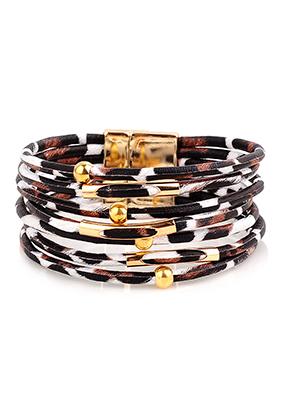 www.misstella.com - Imitation leather bracelet with beads 20cm