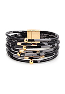 www.misstella.com - Imitation leather bracelet with beads 20cm - J09014