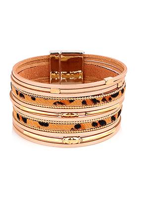 www.misstella.com - Imitation leather bracelet with beads 20,5cm
