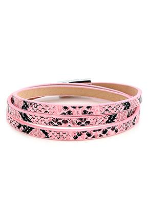 www.misstella.com - Imitation leather wrap bracelet with snake print