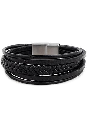 www.misstella.com - Leather bracelet with stainless steel clasp 19cm